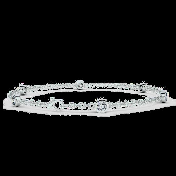 bracelet diamant et chaine
